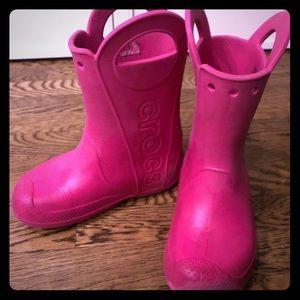 Kids Crocs boots size 2